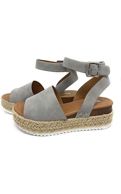 SODA Topic Dove Espadrille Sandals