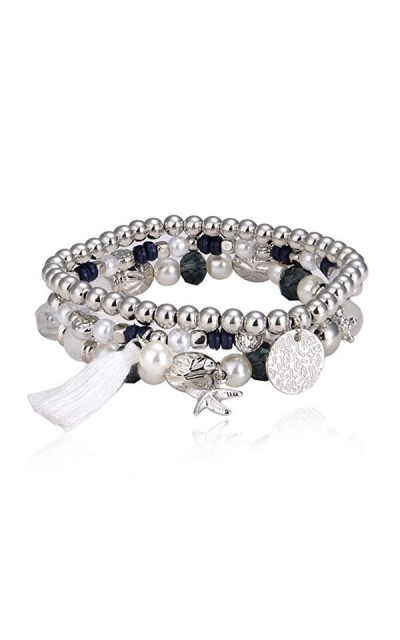 MALDON Crystal Multilayer Strand Bracelet