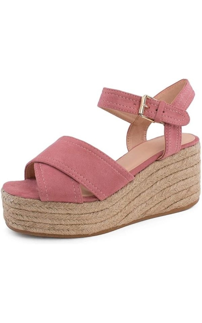 RF ROOM OF FASHION Espadrille Platform Wedge Sandals