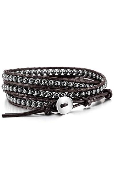 MOWOM Alloy Genuine Leather Bracelet