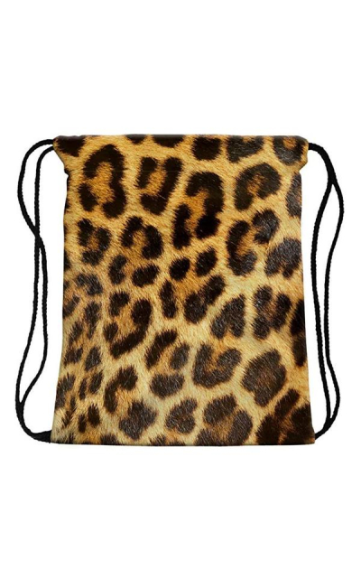 Leopard Sackpack Drawstring Bag