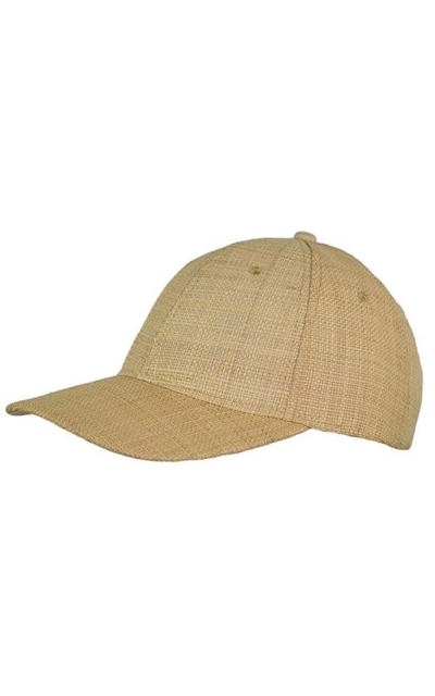 Natural Raffia Baseball Hat