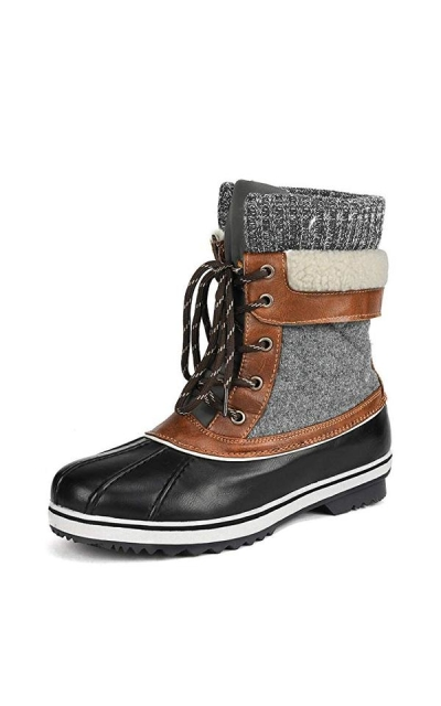 DREAM PAIRS Mid Calf Winter Snow Boots