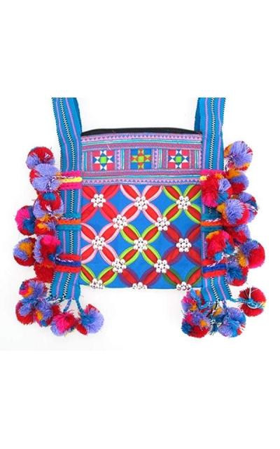 Tribe Pom Pom Sling Bag