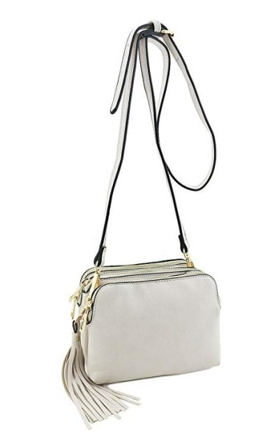 Triple Compartment Mini Crossbody Bag