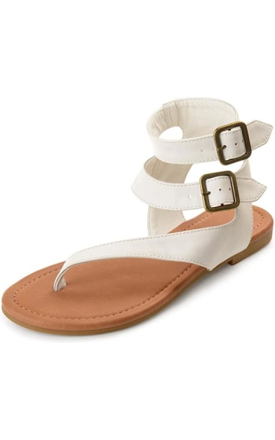 Journee Collection Double Wrap Buckle Thong Sandals