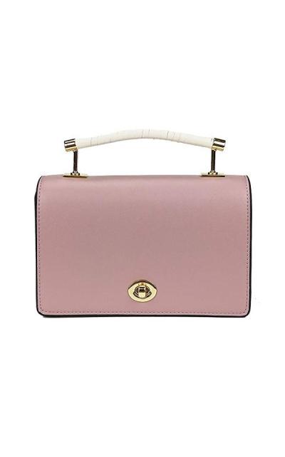 Diagonal Turnlock Handle Bag