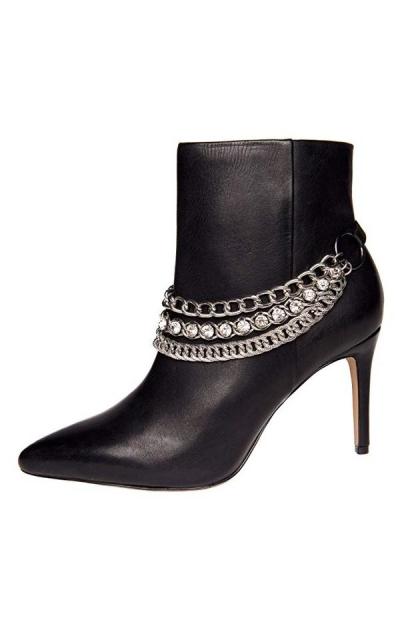 Sassy Strapps  Triple Chain & Rhinestone Boot Straps