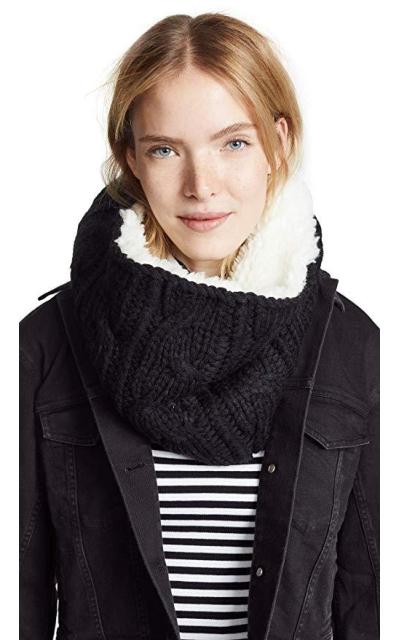 Plush Sherpa Cable Knit Neck Warmer
