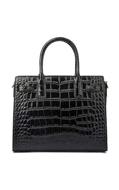 Embossed-Crocodile Bag