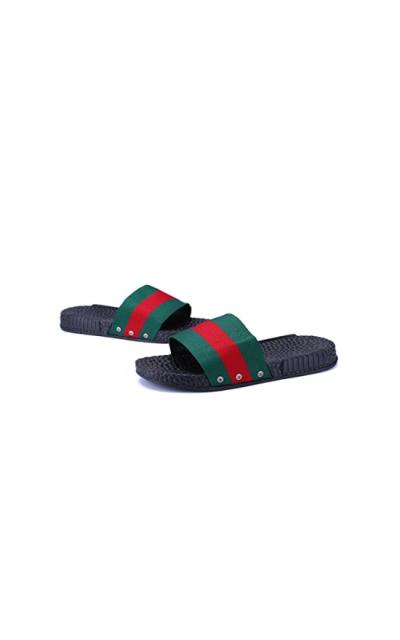 FYios Stripe Pool Slide Sandals