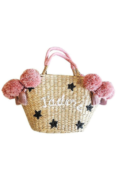 Beach Bag Pom Pom Handbag