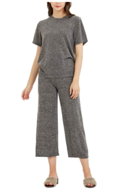 URLAZH 3 Piece Pajama Set (Top, Shorts, Pants)
