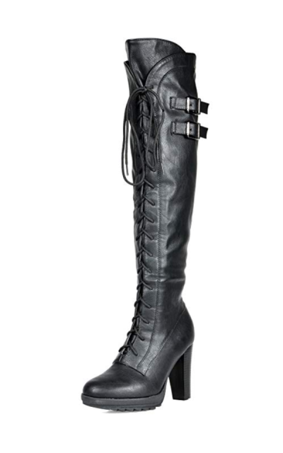 DREAM PAIRS Fashion Over The Knee Heel Boots