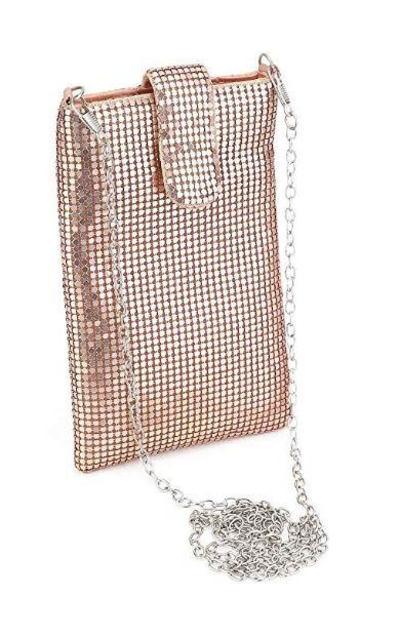 Metal mesh Phone Purse Wallet Crossbody Bag