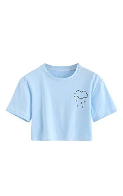 SweatyRocks Rainy Cute Crop Top
