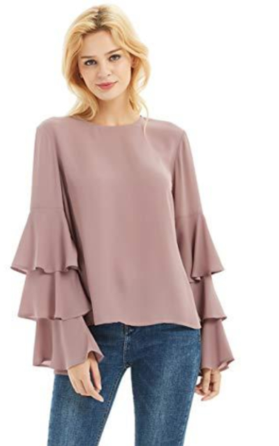 Basic Model Bell Sleeve Top