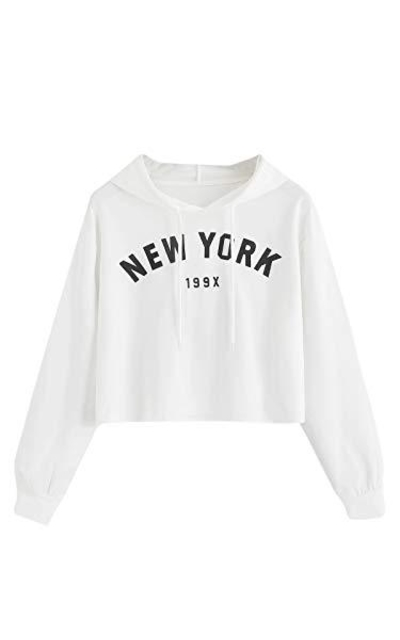 MAKEMECHIC New York Cropped Sweatshirt
