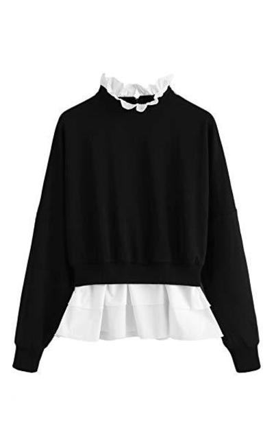 SOLY HUX Ruffle Tiered Sweatshirt