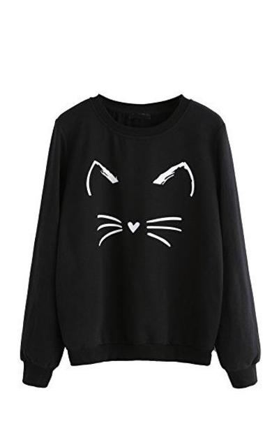 Romwe Cat Sweatshirt