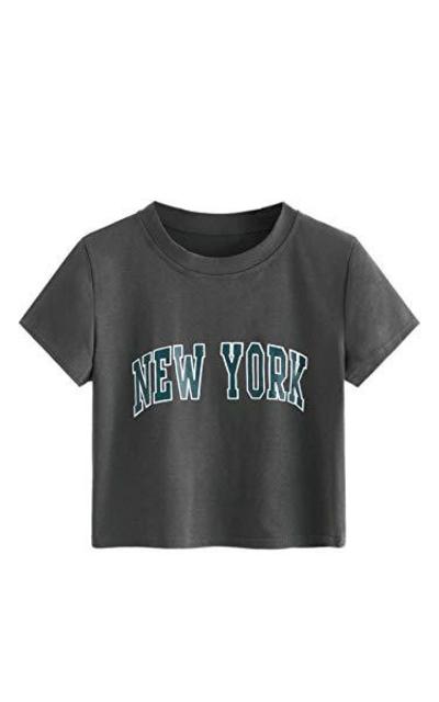 SweatyRocks Crop Top T Shirt