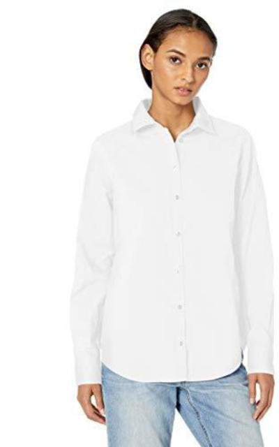Amazon Essentials Classic-Fit Long-Sleeve Poplin Solid Shirt