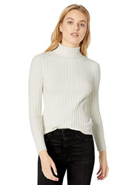 The Drop Amy Fitted Turtleneck Ribbed Sweater
