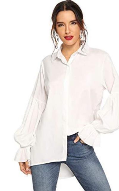 ROMWE Button Down Shirt