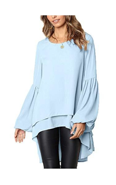 Stylelachic Asymmetrical Irregular Hem Top