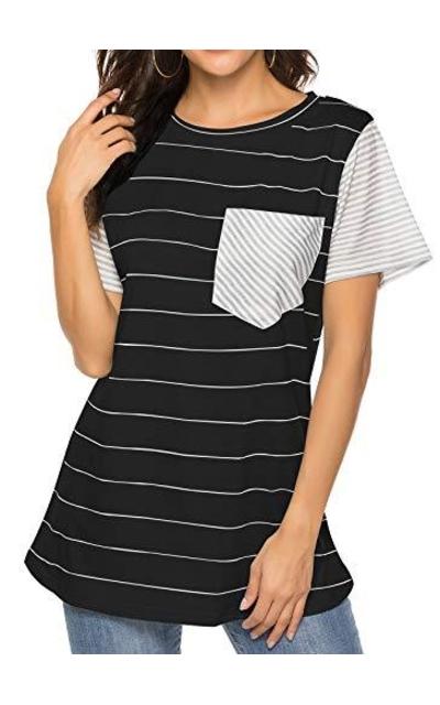HOCOSIT Striped Pocket T-Shirt