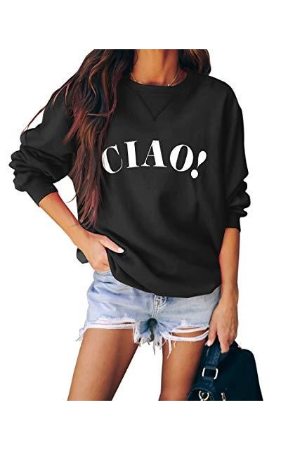 SUUKSESS Ciao Graphic Oversized Pullover