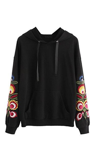 Floerns Embroidery Sweatshirt