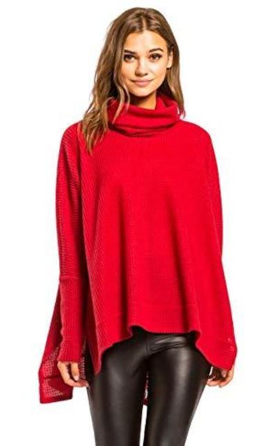 Thermal Tunic Turtleneck Sweater