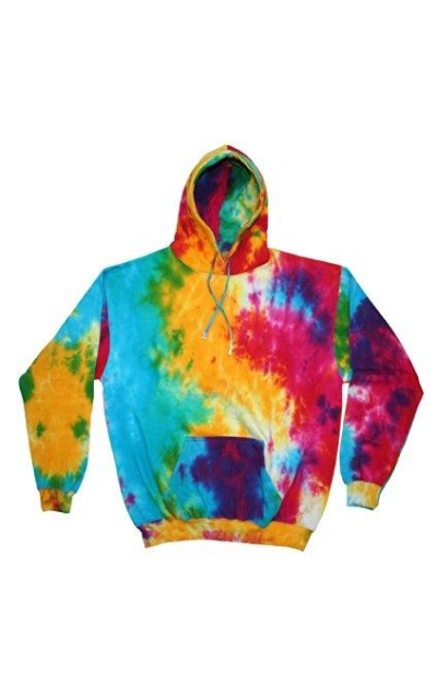 Tie-Dyed Pullover Hoodie