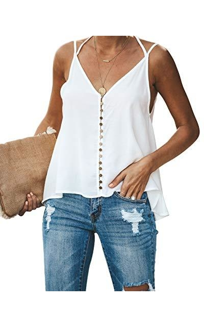 GAMISOTE Button Down  Tank Top