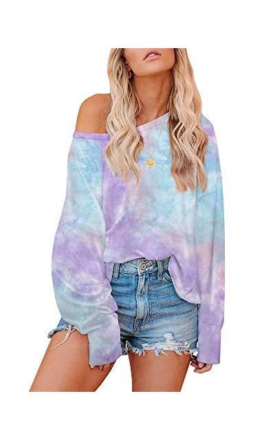 Farktop Tie Dye Printed Sweatshirt