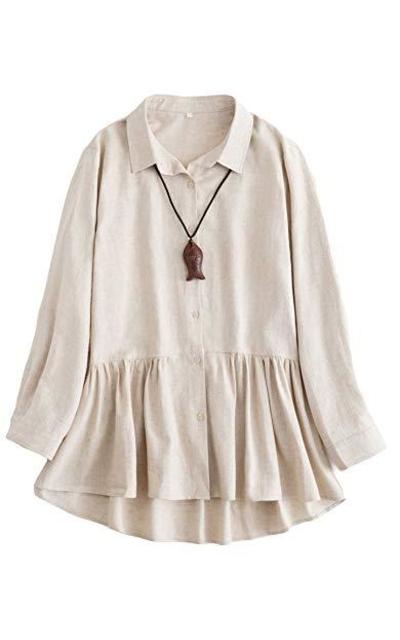 Minibee Linen Babydoll Tunic