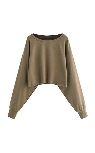ROMWE Drop Shoulder Pullover Sweatshirt