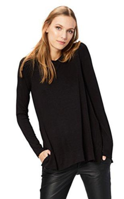 Amazon Brand - Daily Ritual Long-Sleeve Split-Hem Tunic