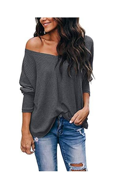 Thermal Off The Shoulder Knit Top