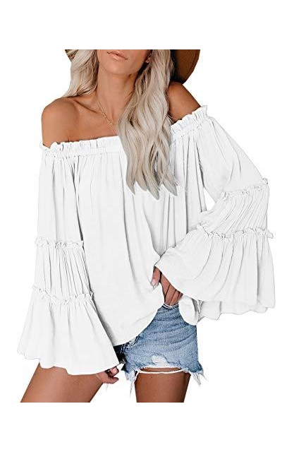Off The Shoulder Flared Top