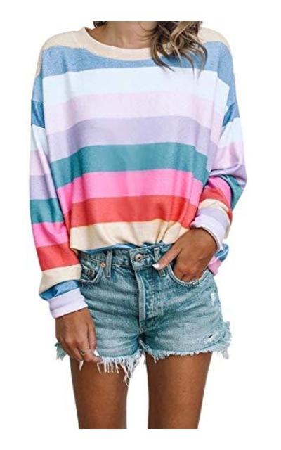 Oversized Rainbow T Shirt