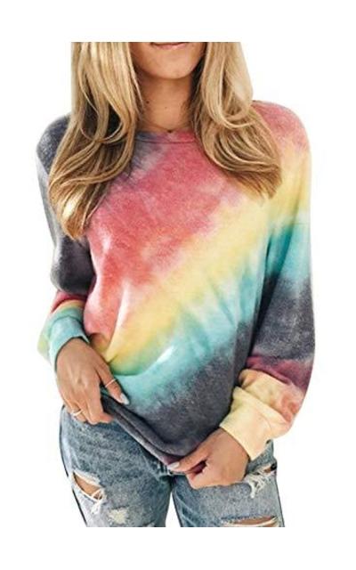 Eytino Tie Dye Printed Pullover