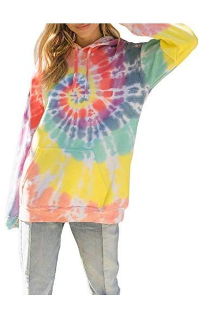 EVALESS  Tie Dye Pocket Sweatshirt