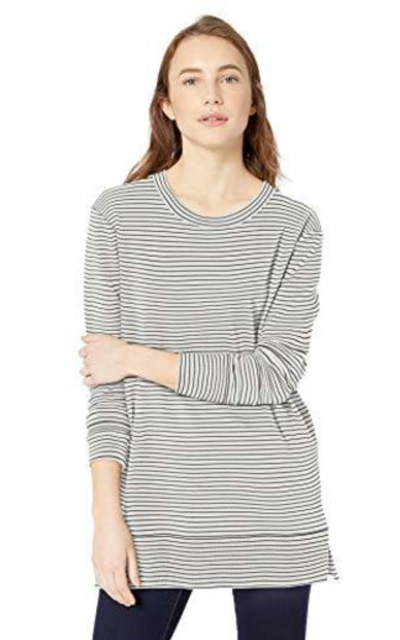 Amazon Brand - Daily Ritual Terry Cotton and Modal Side-Vent Tunic