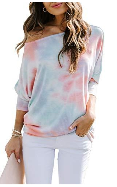 Mafulus Tie Dye Off Shoulder Top