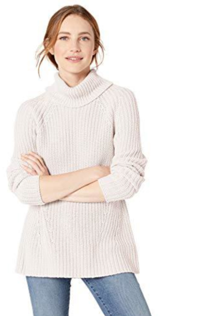 Amazon Brand - Goodthreads Cotton Shaker Stitch Turtleneck Sweater