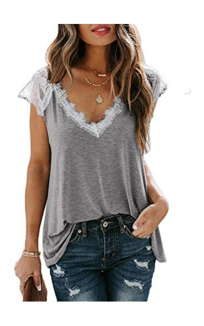 Lovezesent Lace Trim Tee