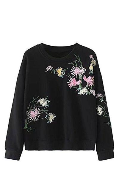 SweatyRocks Floral Sweatshirt