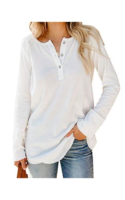 Beautife Henley Waffle Knit Top